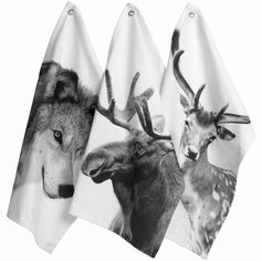 Scandinavian collection of tea towels and home accessories from By Nord Denmark, Ferm Living and Louise Roe. Popular wolf, deer and moose Scandinavian designed tea towels from ByNord Scandinavian Interior Design, Nordic Design, Nordic Style, Dish Towels, Tea Towels, Hand Towels, Textiles, Deer Photos, Diy Accessoires