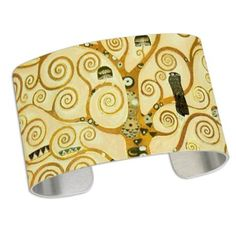 Gustav Klimt Tree Of Life Cuff Bracelet Paul Klee, Alphonse Mucha, Gustav Klimt, Vincent Van Gogh, Tree Of Life, Bracelets, Gifts, Art, Art Background