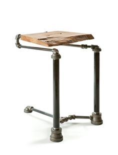 Axel Yberg's steampunk-inspired range of designer furniture is constructed from mostly reclaimed iron steam fittings and plumbing pipes. Description from pinterest.com. I searched for this on bing.com/images