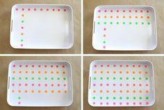 How To Make A Polka Dot Tray - My Contributor's post for Making it Lovely