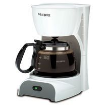 ***4-Cup Coffeemaker - on top of canned food shelves