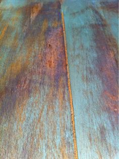 nice cabinet finish for my knotty pine. dry brush (wipe) turquoise paint on wood. sand off to show more wood, finish with satin stain. use all water soluble finishes, acrylic based, polyurethane acrylic based too. Paint Furniture, Furniture Projects, Furniture Makeover, Rustic Furniture, Staining Wood Furniture, Furniture Buyers, Furniture Stores, Table Orange, Turquoise Painting