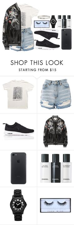 """""""The cold look in your eyes, your tender heart, I care baby"""" by antisocial-vagabond ❤ liked on Polyvore featuring Topshop, NIKE, 3.1 Phillip Lim, Marc by Marc Jacobs, Huda Beauty and Cartier"""