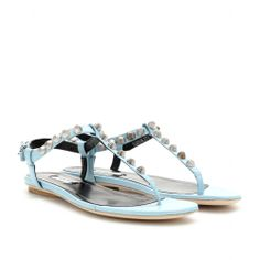 mytheresa.com - Giant studded textured-leather sandals - Luxury Fashion for Women / Designer clothing, shoes, bags