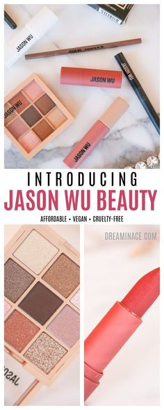 The new affordable, vegan and cruelty-free Jason Wu Beauty line has arrived! On DreaminLace, explore the new range and find out what you should buy -- and what you should skip! #JasonWu #Makeup #BeautyBlog #MakeupAddict #VeganMakeup Drugstore Makeup, Makeup Tips, Beauty Makeup, Beauty Secrets, Beauty Tips, Beauty Hacks, Jason Wu, Classic Eyeliner