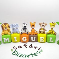 2nd Birthday Party For Boys, Safari Birthday Party, Baby Birthday Cakes, Safari Cakes, Baby Doll Accessories, Clay Crafts, First Birthdays, Croatia Travel, Italy Travel