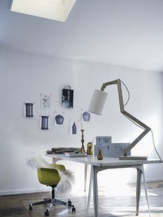 Nice workplace and lamp