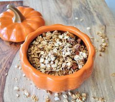 Pumpkin Spiced Granola.  Full of flavor without oil or refined sugars