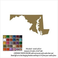 Maryland has to be the most uniquely shaped state!