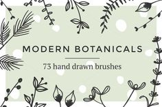 Modern botanical brushes by Gemma Evans on @creativemarket