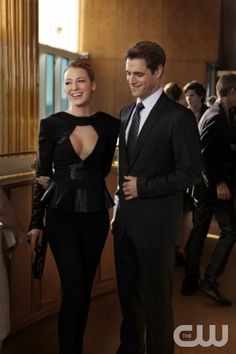 """""""Easy J""""--   Pictured  (L-R) Blake Lively as Serena Van Der Woodsen and Sam Page as Colin Gossip Girl   PHOTO CREDIT: GIOVANNI RUFINO/ THE CW 2010 THE CW NETWORK. ALL RIGHTS RESERVED"""