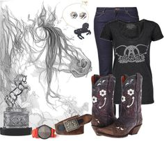 """""""Day at the Barn #9"""" by sunnykansas on Polyvore"""