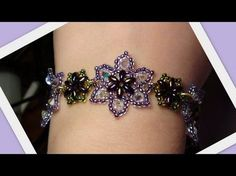 Video: Easy Beaded Flower Bracelet by HoneyBeads. #Seed #Bead #Tutorials