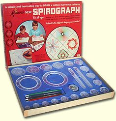 Hours and hours of fun. I loved mine. #toys #games #spirograph #art #nostalgia