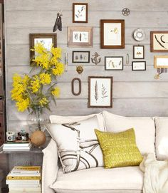 white wash walls, except...ours are vertical! Ignore the blast of yellow!