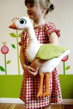 Kuscheltier Gans// Cuddly toy goose by Knuschels via DaWanda.com