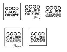 Bold Black and White Square logo design ideas. Used a mix of bold scripts and light sans serif fonts. #Design #GraphicDesign #Branding #BrandDesign #GoodCauseBlog #DreamhouseMarketing #Logo #LogoDesign #DreamhouseBranding #DigitalMarketing
