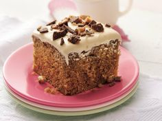 Coffee-Toffee Cake with Caramel Frosting | Quick and easy, this homey cake is rich in coffee, toffee and caramel flavors.