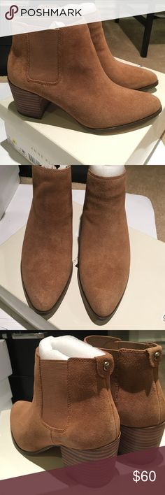 Anne Klein suede tan ankle boots In EXCELLENT condition! Tan suede Anne Klein ankle boots. Comes in box. Anne Klein Shoes Ankle Boots & Booties