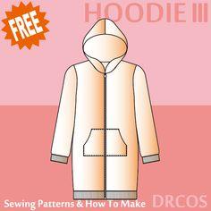 20 Hoodie Free Printable Sewing Patterns