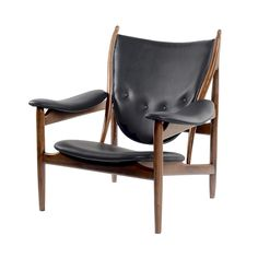 Slide back into the slick body of the Lynx Chair, a cunning construction of solid ash wood and your choice of either black aniline leather or cozy gray fabric. This chair features a groundbreaking desi...  Find the Lynx Chair, as seen in the Modern Rustic Retreat Collection at http://dotandbo.com/collections/modern-rustic-retreat?utm_source=pinterest&utm_medium=organic&db_sku=91959