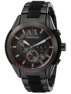596ce37555c2 Armani Exchange Quartz Chronograph Black Dial AX1387 Men s Watch Relojes  Armani