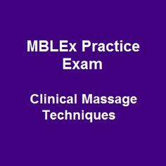 61 Free MBLEx Practice Exam Online Questions on Clinical Massage Techniques equip you with adequate knowledge around massage therapy and bodywork. Like other free MBLEx practice sample questions at Hapiland, this test is friendly designed with prompt answers.