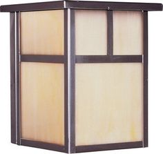 Maxim Lighting 4050HOBU Outdoor Sconce, Burnished Amber by Maxim Lighting. $35.00. From the Manufacturer                Finish: Burnished Amber, Light Bulb:(1)100w A19 Med F Incand Wall Sconce.                                    Product Description                Maxim 4050HOBU Coldwater 1-Light Outdoor Wall Lantern Coldwater is a traditional, craftsman/mission style collection from Maxim Lighting International in three finishes, Acid Verde, Burnished or Pewter, wit...