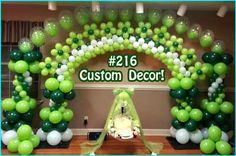 St. Patrick's Day Party Balloon Arch  by Tallahassee Balloons