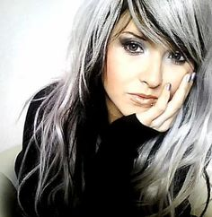 cool hair this is what I am going to do when I get gray hair
