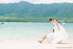 沖縄、石垣島で結婚式の前撮り   結婚式の写真撮影 ウェディングカメラマン寺川昌宏(ブライダルフォト)