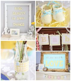 Oh Baby + Beauty In Small Things Themed Baby Shower clothespin, baby shower ideas, babi shower, parti, baby showers