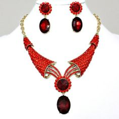 "Exquisite Gold/Red Sunflower Necklace with matching earrings~19"" 5 TwentyFour,http://www.amazon.com/dp/B00J75IGA0/ref=cm_sw_r_pi_dp_dF2ltb1F67P9GSQ6"