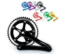 High quality aluminum alloy Fixed Gear Fixie  Cycling Track Crankset Cranks CNC Free shipping