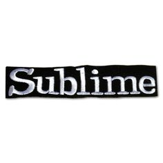Sublime Rock Band Sew or Iron on Patch NEW