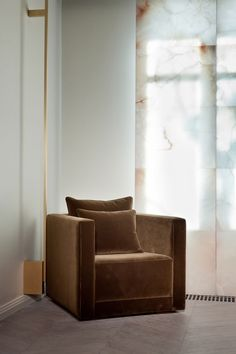 Library/den with lush velvet seating, more impeccable flooring, built ins and translucent sliding panels
