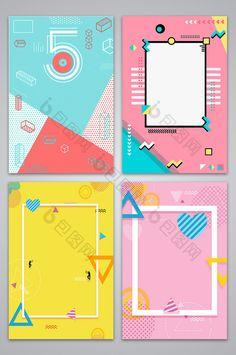 Flat Color Block Geometric Promotion Poster Illustration. #poster #balloon #design #template #designer #blogger #pikbest #background Web Design, Flyer Design, Layout Design, Design Color, Graphic Design Posters, Graphic Design Illustration, Graphic Design Inspiration, Geometric Poster, Geometric Graphic