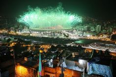 Fireworks Explode Over Rio's Maracana Stadium During The 2016 Olympic Games…