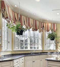 Custom Valances Over Kitchen Sinks 8 Styles Explained Curtains Balloon