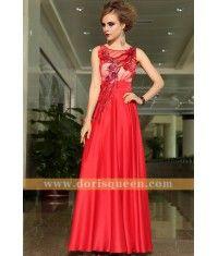 Elegant Long Red Party Dress 30896