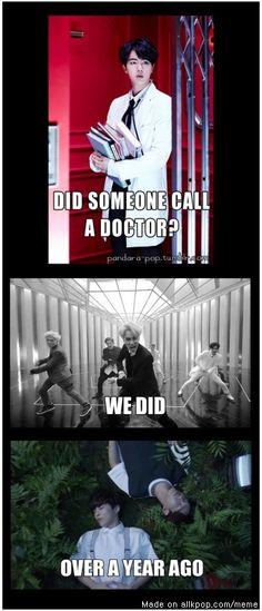 Oops... BTS + EXO.....sad cuz its true......(╯︵╰,)