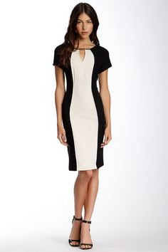 Sandra Darren Keyhole Colorblock Dress on HauteLook