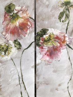 HUILE SUR PAPIER – Claire BASLER Art Floral, Flower Images, Flower Art, Art For Art Sake, Abstract Flowers, Texture Painting, Botanical Art, Watercolor Illustration, Art World