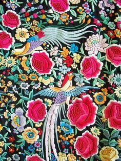 $1,584.16 NZD 1920s Floral and Avian Piano Shawl. $1,200.00, via Etsy.