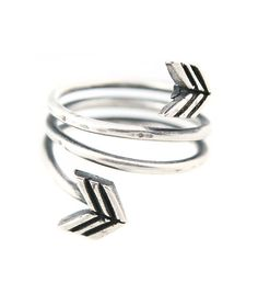 ARROW WRAP AROUND RING SILVER