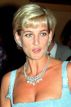 Diana - Lady Diana, Princess of Wales - June 3, 1997 - wearing her Swan Lake Suite Pearl necklace and earrings in London - @~ Mlle