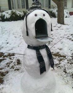 Winter mailbox. Snowman