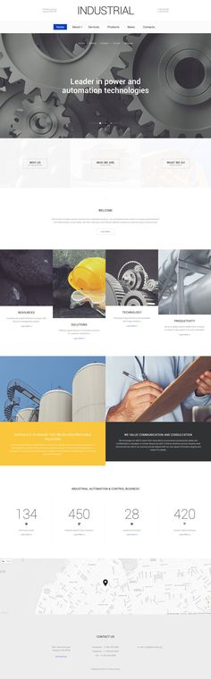 Industrial Responsive Website Template #57908 http://www.templatemonster.com/website-templates/industrial-responsive-website-template-57908.html