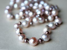 Items similar to Pink and Burgundy Fresh Water Pearls – Continuous Strand on Etsy Water Pearls, Fresh Water, Pearl Necklace, Burgundy, Beaded Bracelets, Trending Outfits, Unique Jewelry, Handmade Gifts, Pink