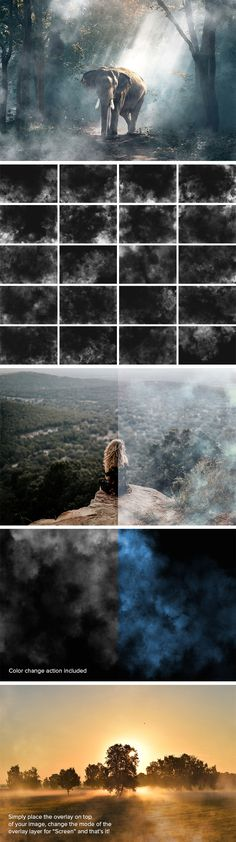Hi guys! You've seen a very nice set Of 20 Mysterious Fog Overlay! Each of the overlays masterly recreates fog or smoke. It's very easy to use, just place the overlay on top if your image then change the mode of the overlay layer for 'screen', you've get the perfect result. Don't hesitate to download and use this freebie to bring pure mystery and enigma to the shots. Check it out and enjoy!